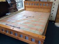 King size bed with brand new mattress