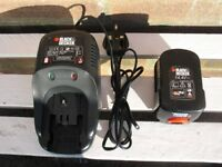 Battery Charger - Black & Decker 14.4V Ni-Cd (see photos).