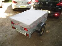 VERY NICE CADDY 430 (250KG) DROPTAIL GOODS TRAILER WITH COVER.....