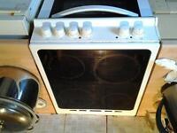logik 50cm wide ceramic hob free standing cooker Spares or Repairs