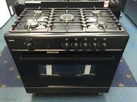 New Ex-Display Bexel 90cm All Gas Range Cooker Matt Black £425
