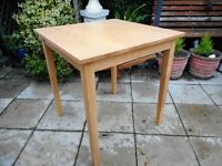 small oak wooden dining table