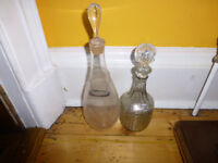 Two vintage decanters