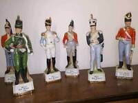 6 porcelain Military officers 1815