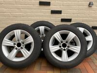 """BMW 16"""" Alloy Wheels with winter tyres"""