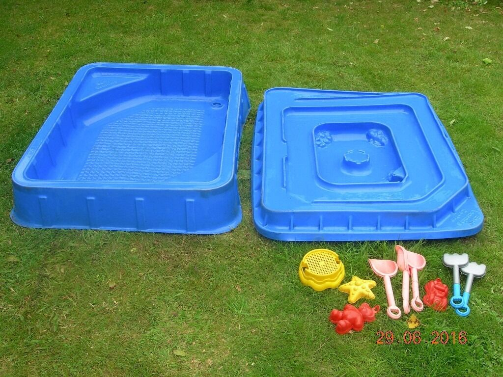 Sand pit elc early learning centre with lid track for Elc paddling pool