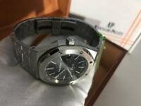 New Swiss Audemars Piguet Royal Oak STAINLESS STEEL See Through Back Automatic Watch