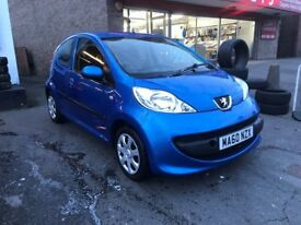 Peugeot 107 Blue 1 Litre Petrol Manual 5 Door Hatchback 2010 Stunning Low Mileage Car