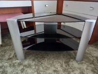 Glass TV audio stand