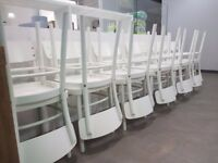 Ikea Idolf Chairs White x 12 Well Used but Still Solid RRP £45 Each