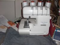 Frister & Rossmann Knitlock 234DF Electronic Overlocker sewing machine with accessories