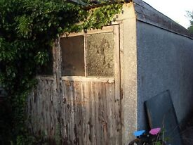 Concrete garage. old but still useable. FREE to anyone who collects it