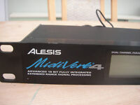 Alesis Midiverb4 effects processor for studio or live gigs, in good working order.