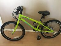 Dawes academy lime green hybrid kids bike