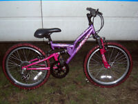 "girls 20"" wheel full suspension mountain bike fully serviced tidy bike ready to go"