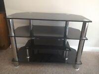 Glass TV stand