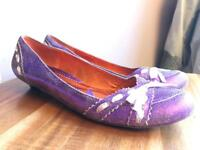 Irregular choice distressed purple ribbon flats size 40 6.5/7