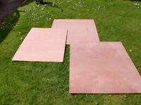 Plywood, 3 sheets, various sizes