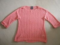 River island coral jumper with vest