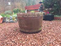 Oak Half-Barrel Garden Tub