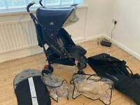 Maclaren techno XT pushchair stroller travel bag and extras