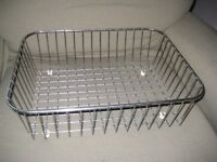 Set of Three Chrome Kitchen Baskets for £5.00