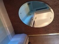 Brand new oval mirror