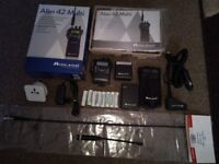 Alan 42 multi handheld CB radio with upgrade antenna new news