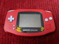 Gameboy advance - Red with Pokémon screen - Refurbished