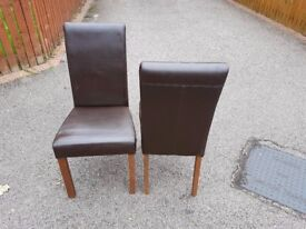 2 Willis & Gambier Leather Chairs FREE DELIVERY 812