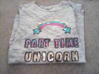 Girl's Long Sleeve Unicorn Top