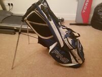 Ping Hoofer carry bag in good condition no rips and tears Blue and white