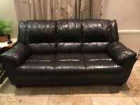 Luxury Leather 3 Seat Sofa