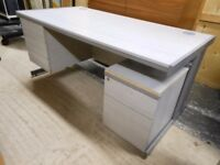 3 drawer desk and pedestal filing cabinet.very solid. excellent condition. can deliver