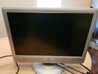 HP Silver Monitor with power cable
