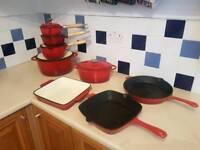 Cast iron Cooking pan set