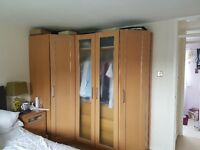 Bedroom wardrobes, including corner unit and internal draws
