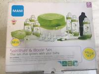 MAM baby steriliser & bottle set