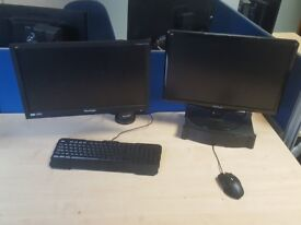 """Desktop PC i7 win 7pro Activated with two 22"""" HD Monitors Viewsonic"""