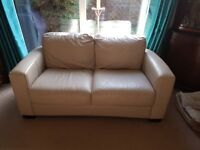 Taupe 3 seater leather sofabed(everyday use) and matching 2 seater sofa. Great condition