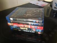 5 brand new blu ray dvds