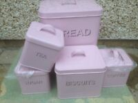 NEXT Storage set pink in colour never been used still boxed new .