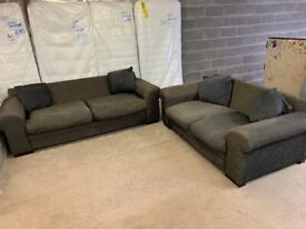 For sale large 3 +2 seater sofas