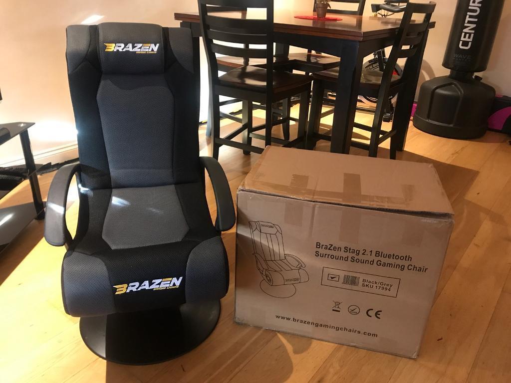 Miraculous Brazen Stag 2 1 Bluetooth Surround Sound Gaming Chair Black In Mitcham London Gumtree Evergreenethics Interior Chair Design Evergreenethicsorg