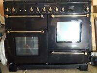 Rangemaster 1100 double oven dual fuel range cooker