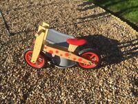 Wooden balance bike in excellent condition. Ideal pre bike for children.