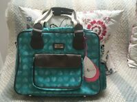 Beau & Elliott Changing Bag - brand new green confetti heart patterned changing bag.