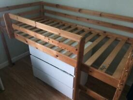 Stompa mid height bed frame