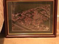 Framed aerial photo of Drighlington