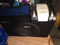 Mutant subwoofer, had many years and been looked after, she comes with her amp no leads.